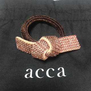 acca - アッカ リボンゴム ピンク