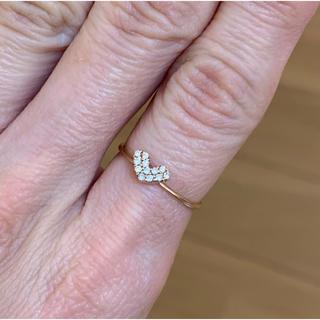 ミルフローラ k10ピンクゴールド ハートダイヤモンドリング 10号(リング(指輪))