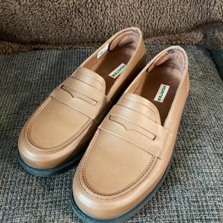ハンター(HUNTER)の美品 HUNTER ハンター 雨靴 ローファー スリッポン 26.5 27(レインブーツ/長靴)