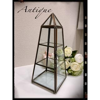アンティーク ピラミッド型  ガラス ディスプレイケース✩.*˚