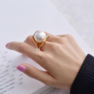 エンフォルド(ENFOLD)の166「ひと粒パールゴールドリング」10号指輪(リング(指輪))