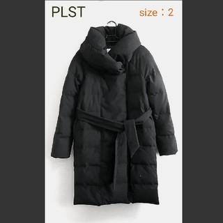 PLST - 【美品】PLST ダウンコート ブラック Mサイズ ゆったり