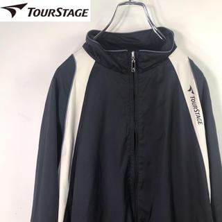 ツアーステージ(TOURSTAGE)の【希少】TOUR STAGE ツアーステージ ロゴ刺繍入り ジップアップブルゾン(ウエア)