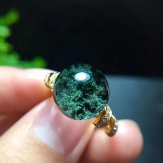 【天然】グリーンガーデンクォーツ リング 11.4mm s925(リング(指輪))