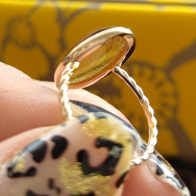 agete(アガット)のアガット琥珀リング レディースのアクセサリー(リング(指輪))の商品写真