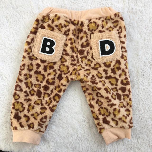 BABYDOLL(ベビードール)のベビードール ヒョウ柄 セットアップ 80cm キッズ/ベビー/マタニティのベビー服(~85cm)(トレーナー)の商品写真