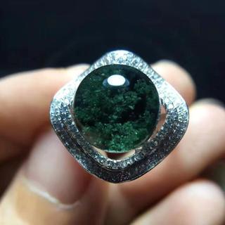 【天然】グリーンガーデンクォーツ リング 11.6mm s925(リング(指輪))