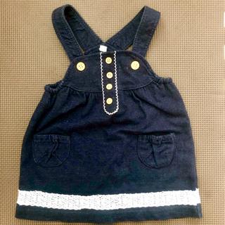 西松屋 - デニム ジャンパースカート 80cm 女の子