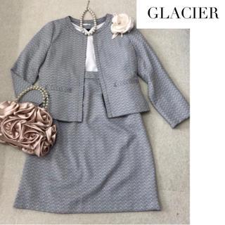 【M】新品 GLACIER ツイードスーツ  グレー