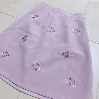 Ank Rouge - アンクルージュ 花柄スカート