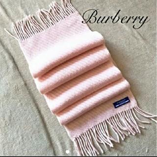 バーバリーブルーレーベル(BURBERRY BLUE LABEL)の美品 Burberry Blue label ウールカシミア混マフラー 希少(マフラー/ショール)