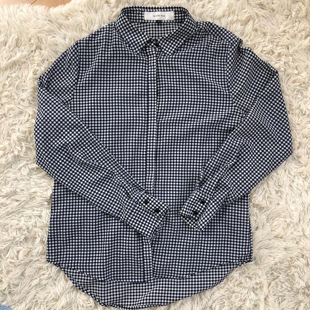 LE CIEL BLEU(ルシェルブルー)のLE CIEL BLEU ギンガムチェックシャツ レディースのトップス(シャツ/ブラウス(長袖/七分))の商品写真