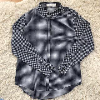 LE CIEL BLEU - LE CIEL BLEU ギンガムチェックシャツ