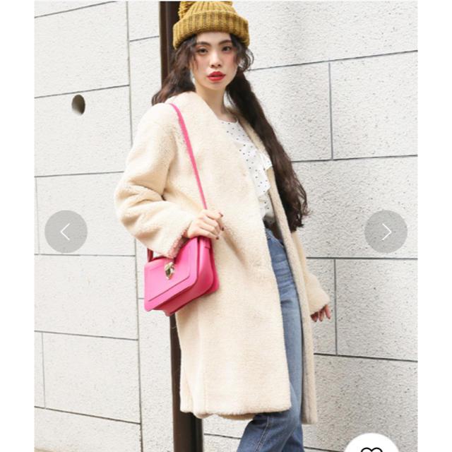 LOWRYS FARM(ローリーズファーム)の美品 LOWRYSFARM ボアコート レディースのジャケット/アウター(ロングコート)の商品写真