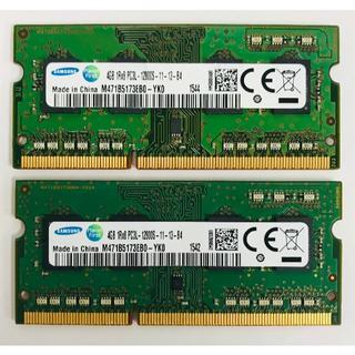 サムスン(SAMSUNG)のRZ38-SAMSUNG 4GB 1R×8 PC3Lメモリ 2点(PCパーツ)