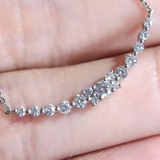 4℃ - 限定 4℃ クリスマス ラインネックレス プラチナ ダイヤ