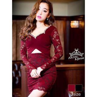 dazzy store - ♡ 袖付き 総レース カットミニドレス♡