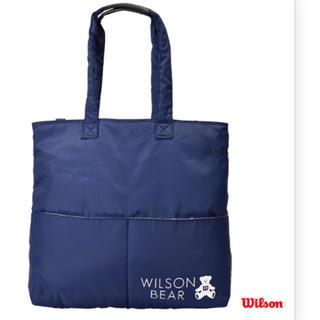 wilson - ウィルソンベア テニストートバッグ ネイビー