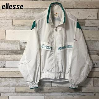 ellesse - 【人気】ellesse 刺ロゴ ジップアップジャケット ホワイト サイズM