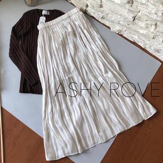 SCOT CLUB - 新品1.6万★ASHY ROVE シンプルこなれプリーツロングスカート