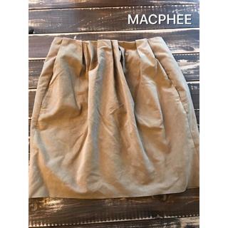 マカフィー(MACPHEE)のMACPHEE スエード調スカート(ミニスカート)