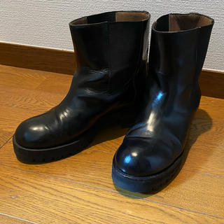 マルニ(Marni)のMARNI マルニ サイドゴア レザー ショートブーツ ワークブーツ 黒 38(ブーツ)