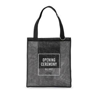 オープニングセレモニー(OPENING CEREMONY)のOC LOGO MESHTOTE / メッシュトート ブラック(トートバッグ)
