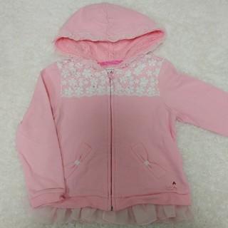 mikihouse - ミキハウス リーナちゃん 裾レース パーカー 110㎝ ピンク