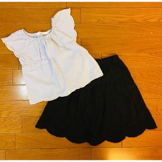 GU - GU ロングスカート 黒 110