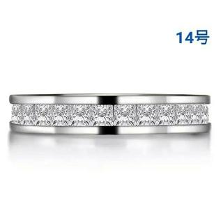 ハリーウィンストン(HARRY WINSTON)の最高級合成ダイヤモンド/プリンセスカットフルエタニティリング/14号(リング(指輪))