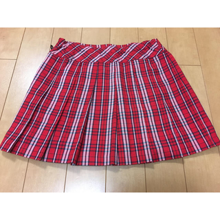 レピピアルマリオ(repipi armario)のrepipi スカート✨赤 チェック リボン付き(ミニスカート)