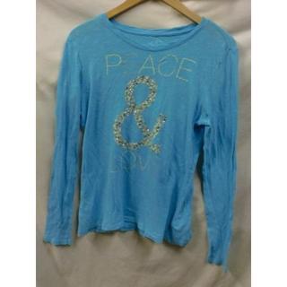 オールドネイビー(Old Navy)のOLD NAVY PEACE LOVEロングTシャツUSAgoodデザインS(Tシャツ(長袖/七分))