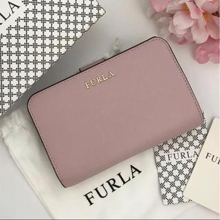 Furla - 【新品】FURLA★人気の二つ折り財布 定価:3.0万円 カメリア ピンク