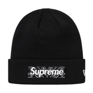 Supreme - Supreme Bandana Box Logo Beanie BLACK