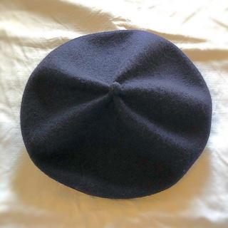 マーガレットハウエル(MARGARET HOWELL)の*美品* マチュアーハ  ベレー ネイビー  mature ha  (ハンチング/ベレー帽)