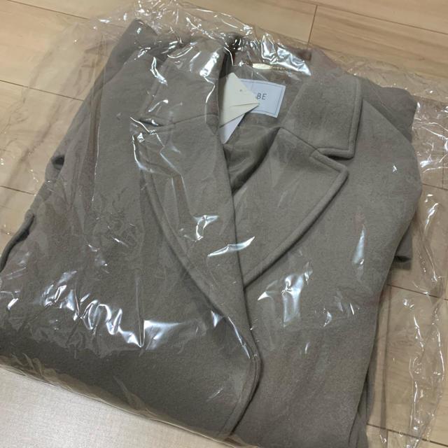 IENA SLOBE(イエナスローブ)の新品未使用 スローブイエナ SUPER100 シングルモッサロングコート レディースのジャケット/アウター(ロングコート)の商品写真