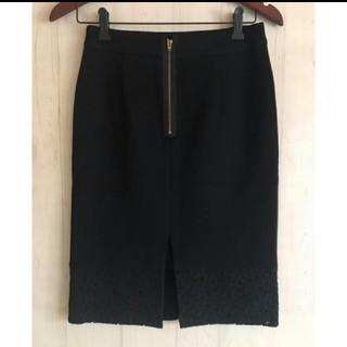 ノーブル(Noble)の■Nobel■ノーブル★裾レース★ゴールドバックジップスカート■(ひざ丈スカート)