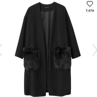 ジーユー(GU)のGU ポケットファーコート(毛皮/ファーコート)