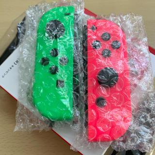 Nintendo Switch - 【美品】スイッチ ジョイコン 左右ネオングリーンピンク ストラップ付き M