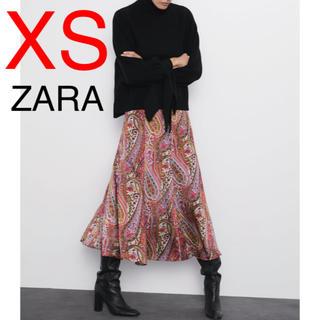 ZARA - ZARA プリント柄 花柄 スカート フラワープリント フラワー柄