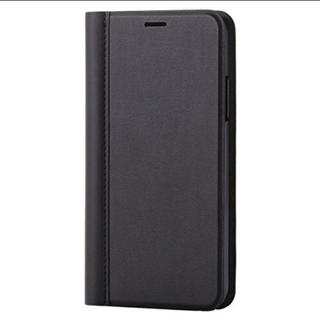 ELECOM - iPhoneXS iPhoneX スマホケース 薄型 スリム ブラック