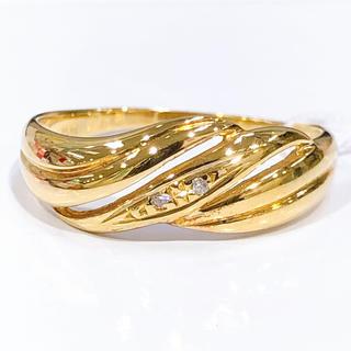 K18 ダイヤモンド 透かしリング(リング(指輪))