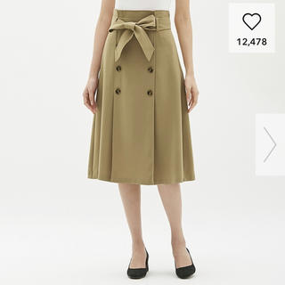 GU - GU ジーユー トレンチAラインスカート