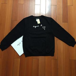 アニエスベー(agnes b.)のagnes b.ハートL黒ロゴアニエス・ベー スウェット(トレーナー/スウェット)