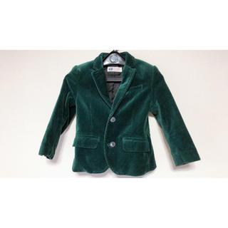 エイチアンドエム(H&M)の美品 H&M 90cm テーラードジャケット ベロア(ジャケット/上着)