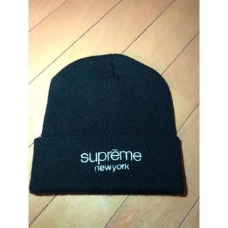 Supreme - 週末限定 SUPREME クラシックロゴ ニットキャップ 黒