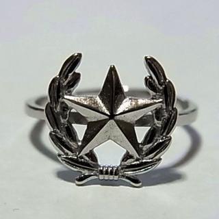 新品SSリング指輪11号スター星デザイン フリーサイズ調節サイズ ピンキーリング(リング(指輪))