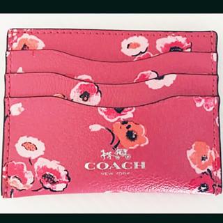 COACH - ☆美品☆ COACH コーチ 本革レザー 定期入れ パスケース 花柄