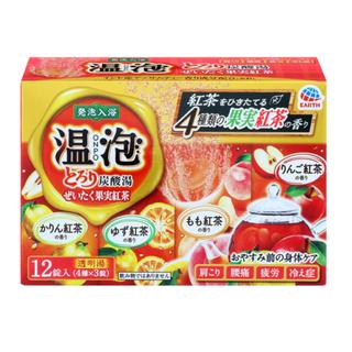 アースセイヤク(アース製薬)の温泡 とろり炭酸湯 ぜいたく果実紅茶(入浴剤/バスソルト)