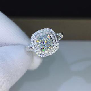 【1カラット】輝くモアサナイトダイヤモンド リング(リング(指輪))